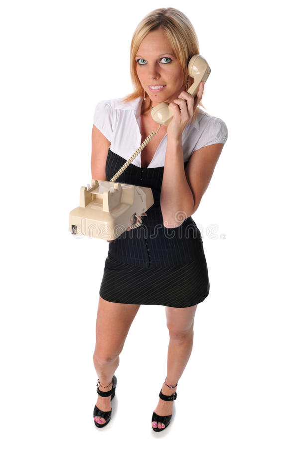 Young Businesswoman On The Phone Royalty Free Stock Photography
