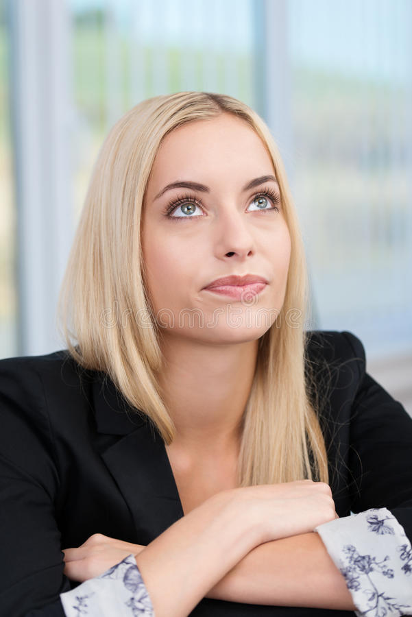 Young businesswoman planning her strategy stock photos