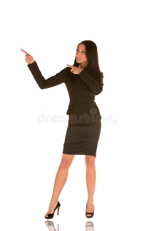 Free Young Businesswoman Pointing Stock Image - 8973591