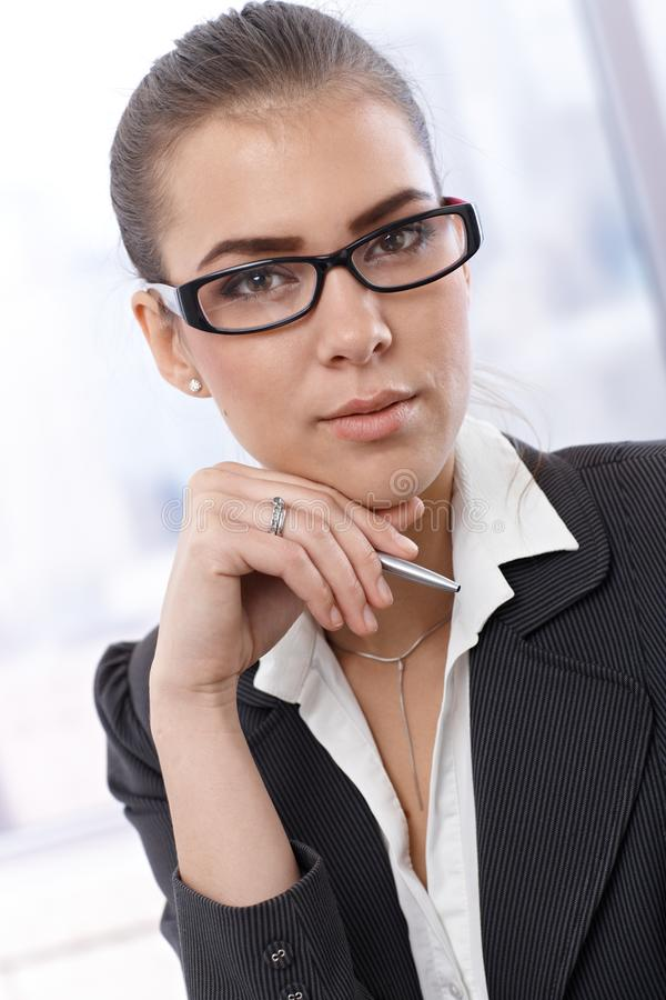 Download Young Businesswoman Portrait Stock Image - Image of american, female: 26802351