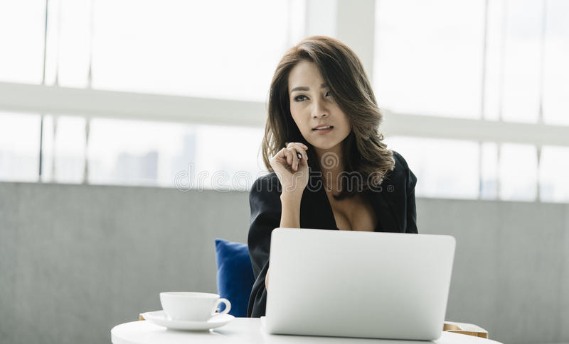 Young businesswoman. royalty free stock photos
