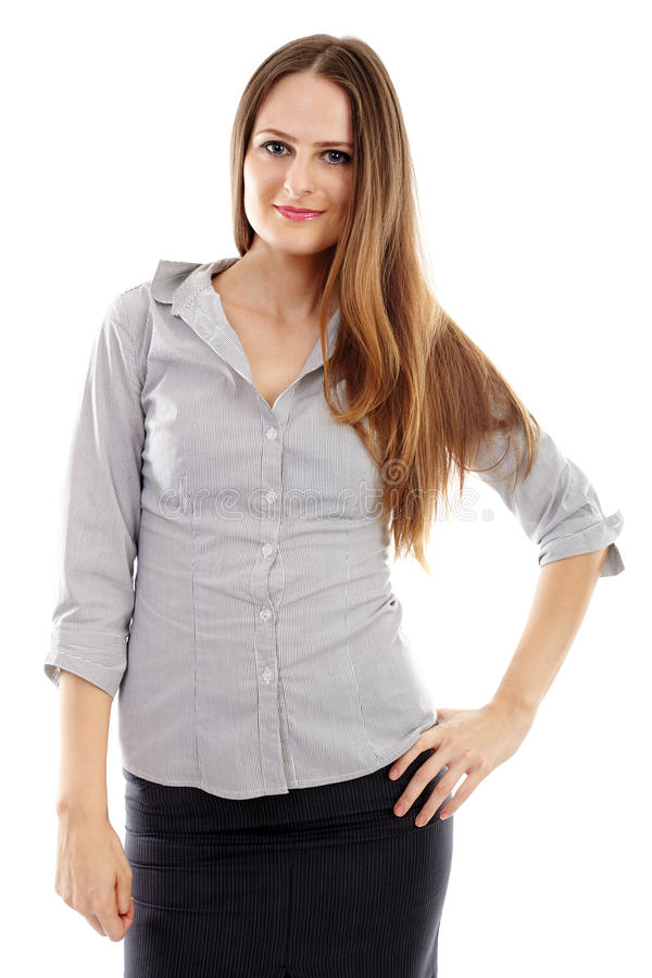 Download Young Businesswoman Smiling Stock Image - Image: 37265977