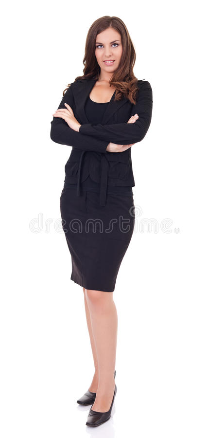 Download Young Businesswoman Standing Stock Photo - Image: 20913730