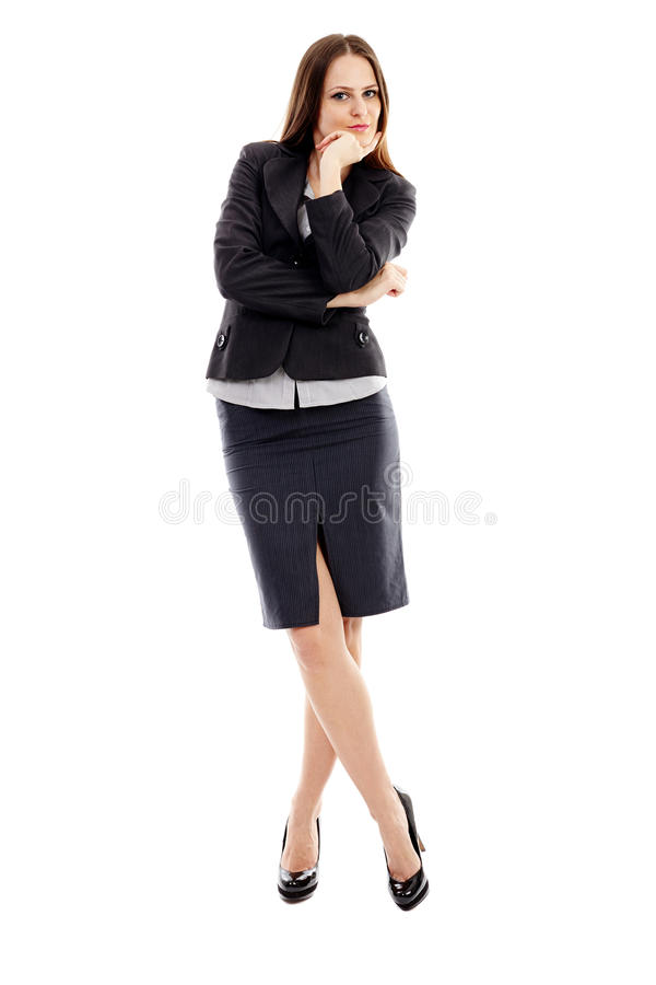 Download Young Businesswoman On White Background Stock Photo - Image: 37265986