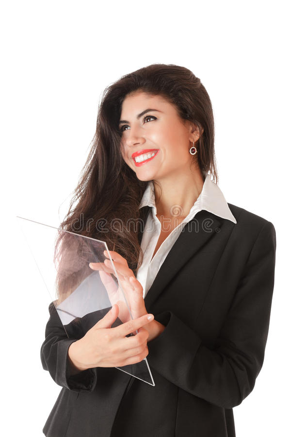 Download Young Businesswoman Working On Stock Photo - Image: 21803188