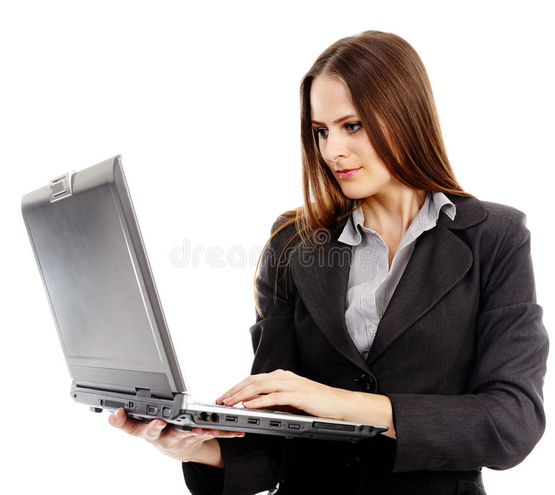 Download Young Businesswoman Working On Laptop Stock Image - Image: 37276113
