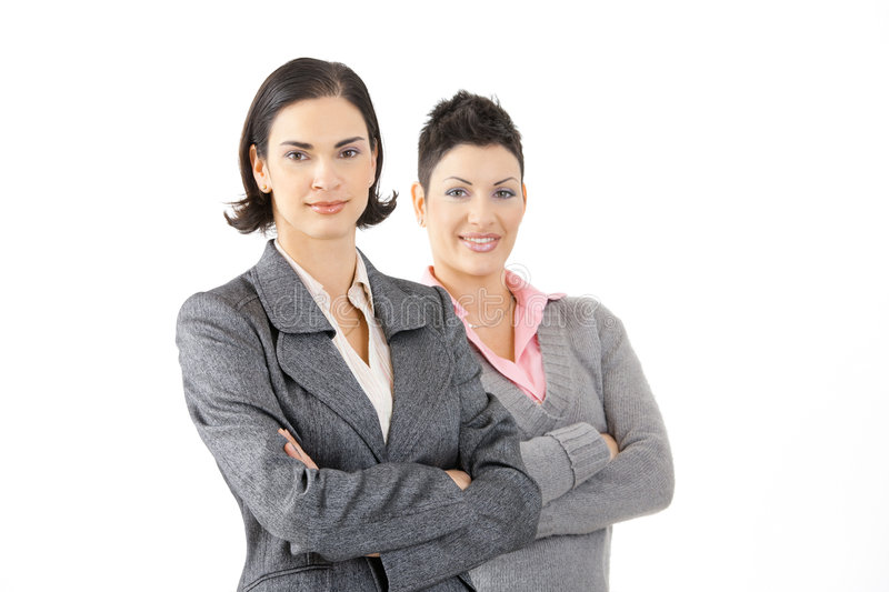 Young businesswomen royalty free stock photo