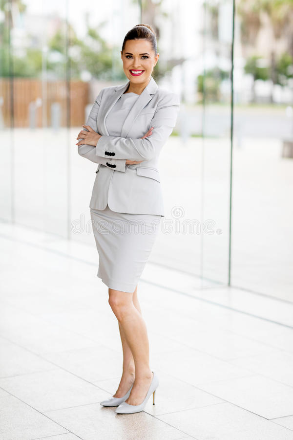 Young busineswoman arms folded royalty free stock images