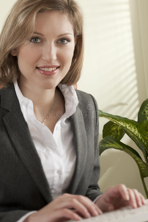 Young businss woman royalty free stock images