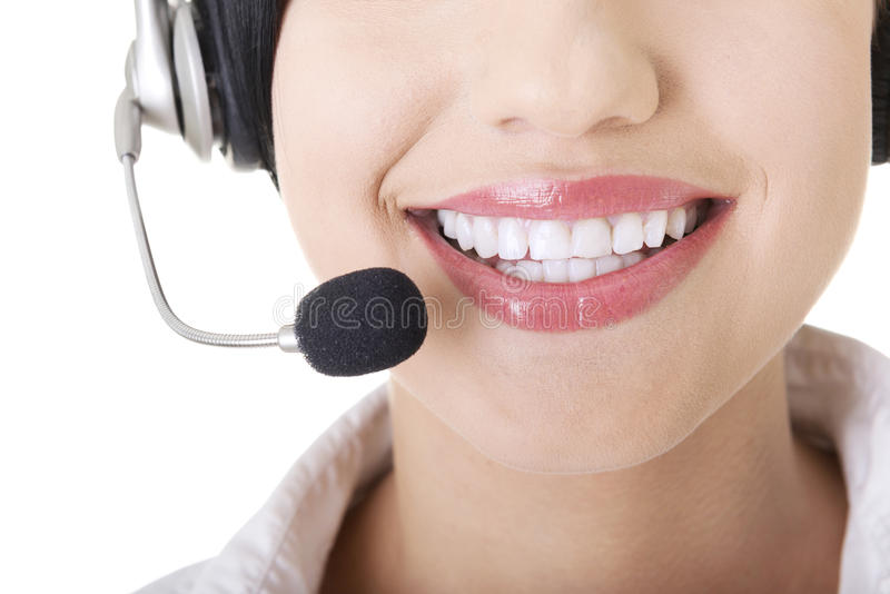 Download Young Call-centre Assistant Smiling At The Camera Stock Photo - Image: 26366618