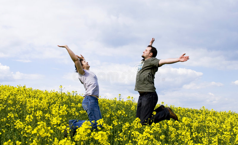 Download Young Casual Couple Enjoying Summer Stock Image - Image of happiness, color: 5316235