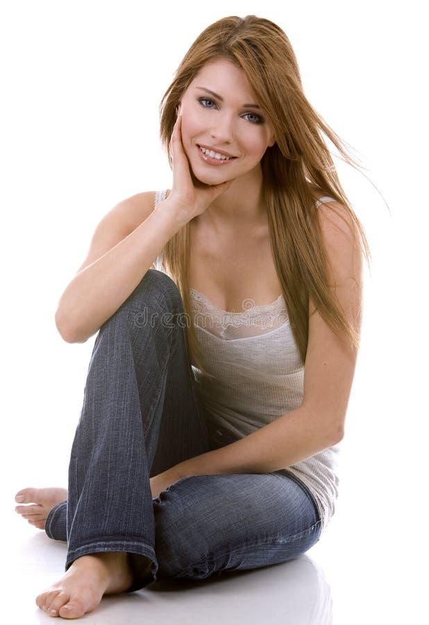 Young casual girl royalty free stock photos