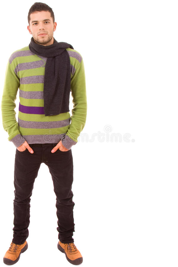 Free Young Casual Man Full Body Royalty Free Stock Photos - 12413668
