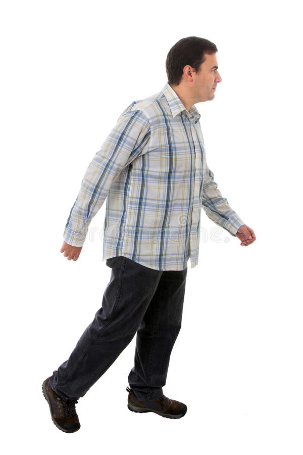 Young casual man full body stock photo