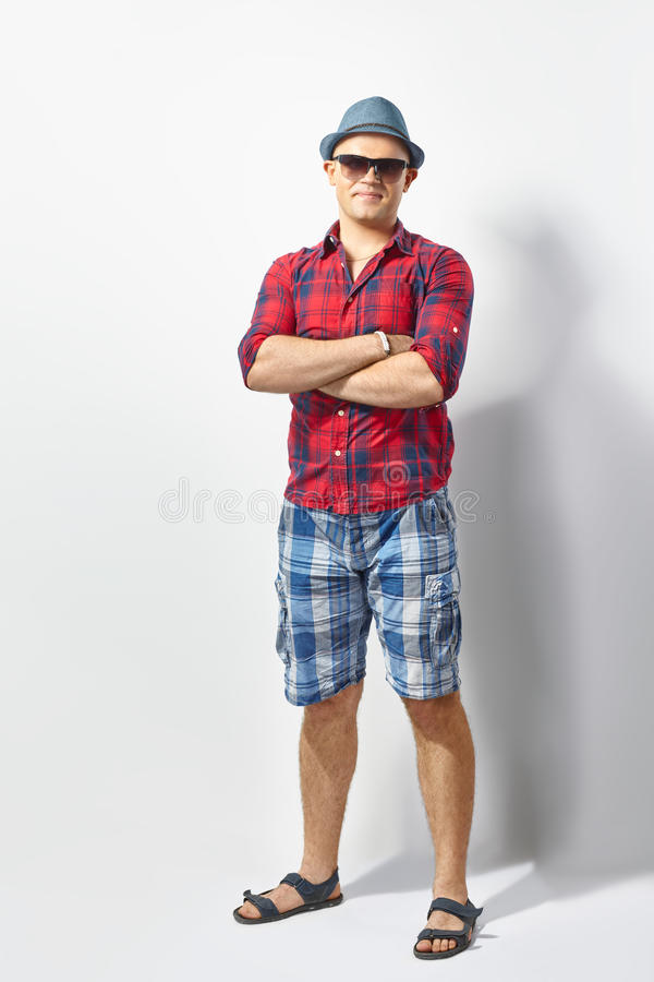 Young casual man stock image
