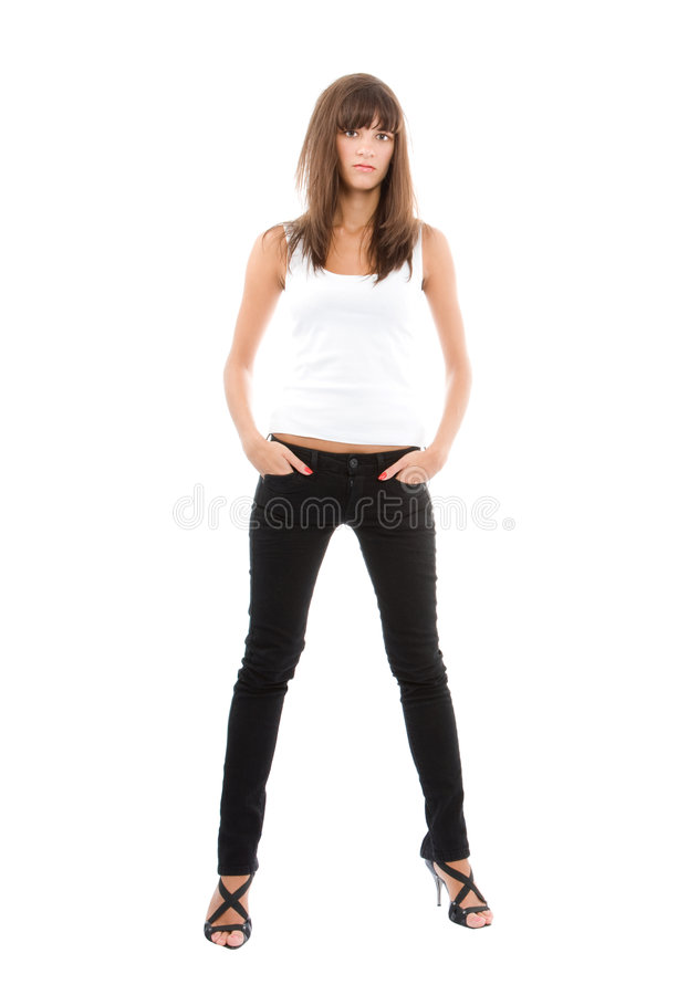 Download Young, casual, woman stock image. Image of portrait, close - 7289325