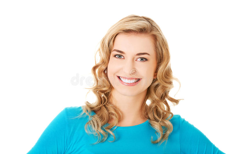 Young casual woman style. Studio portrait royalty free stock image