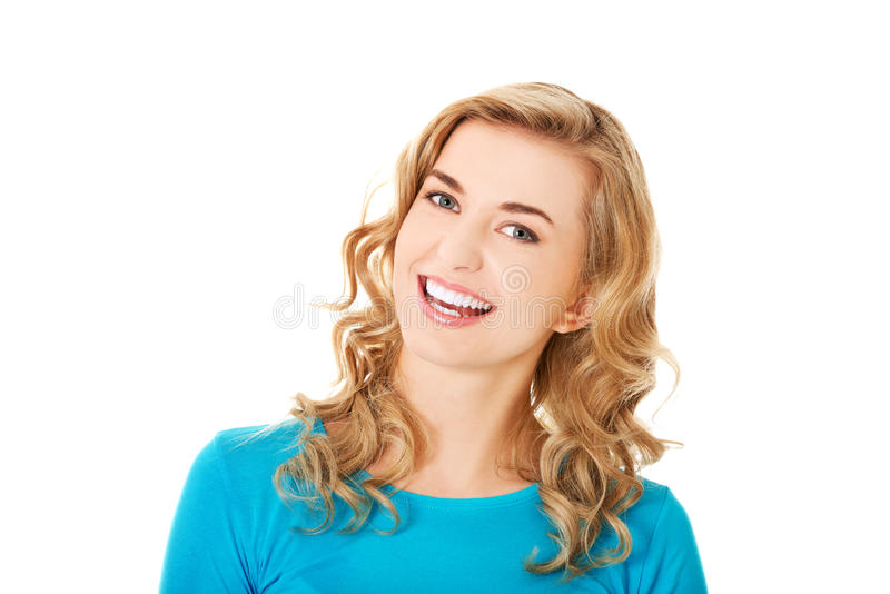 Young casual woman style. Studio portrait.  stock photos