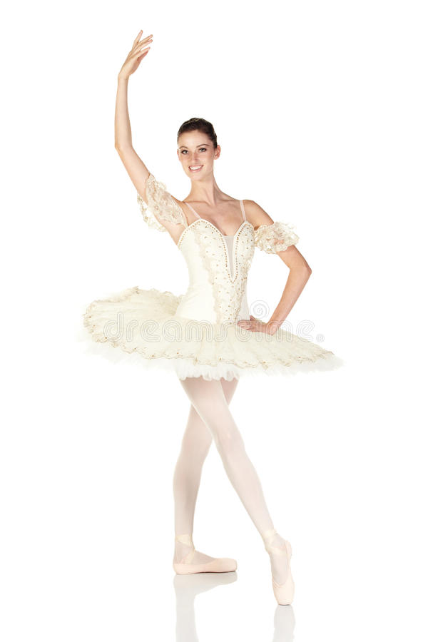 Young caucasian ballerina royalty free stock images
