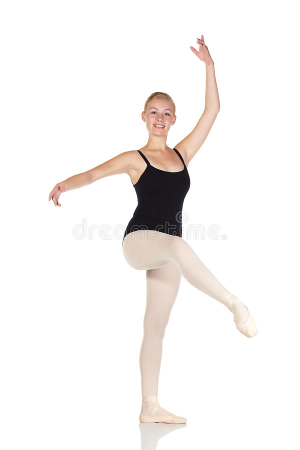 Download Young caucasian ballerina stock photo. Image of reflective - 9900582