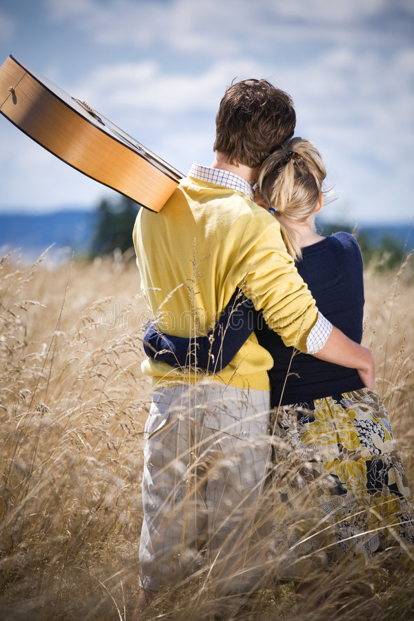 Young caucasian couple in love. A shot of a young caucasian couple in love outdoor stock photography