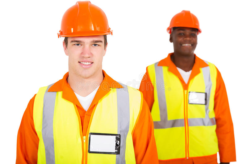 Young caucasian engineer royalty free stock photography