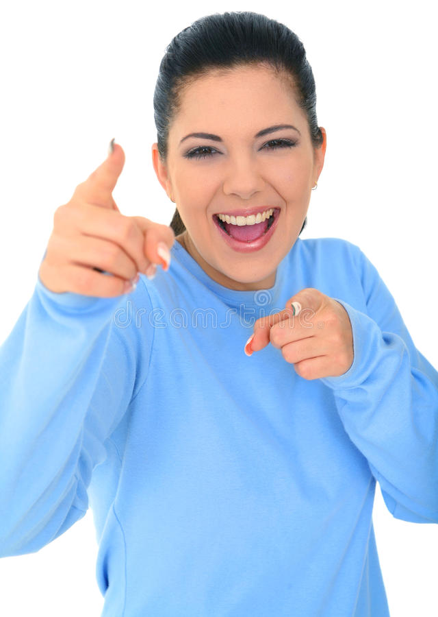Young Caucasian Girl Laughing stock image
