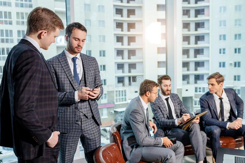 Young manager with business people royalty free stock photos