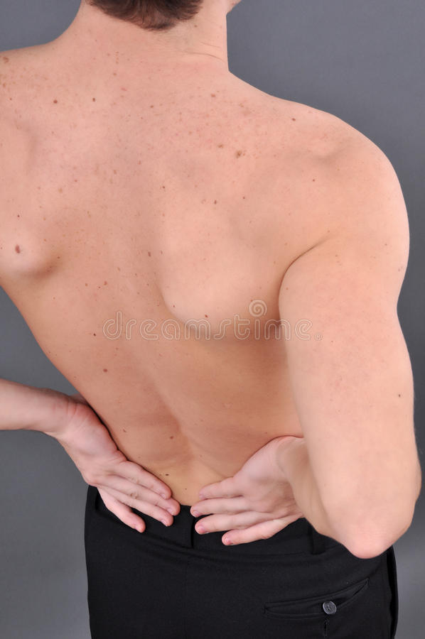 Young Caucasian Man With Pain Stock Photography
