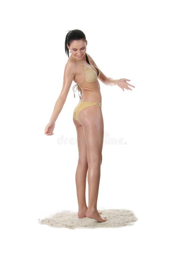 Young Caucasian Woman In Bikini Stock Photo