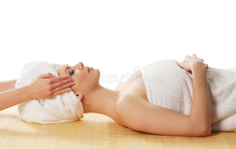 Download A Young Caucasian Woman Laying On A Spa Procedure Stock Photo - Image: 25626146