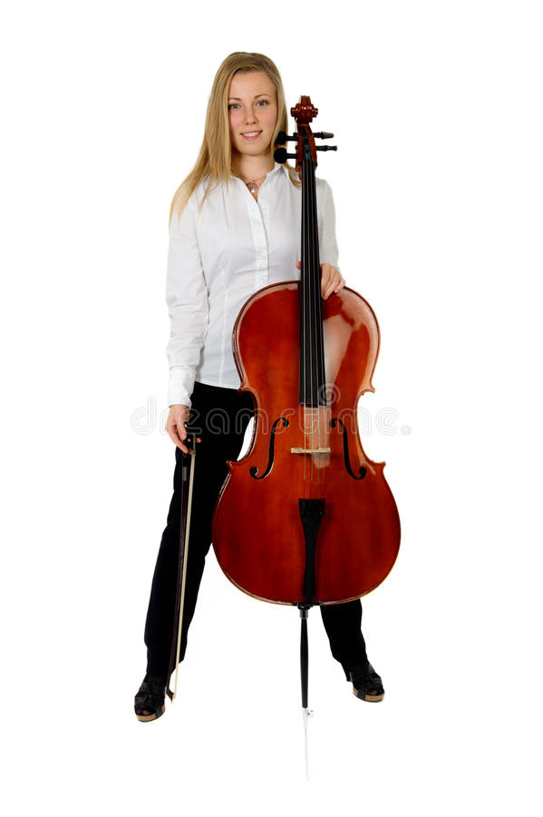 Download Young Cellist Son White Background Royalty Free Stock Image - Image: 16748186