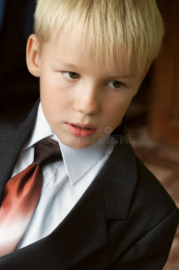 Young CEO royalty free stock image