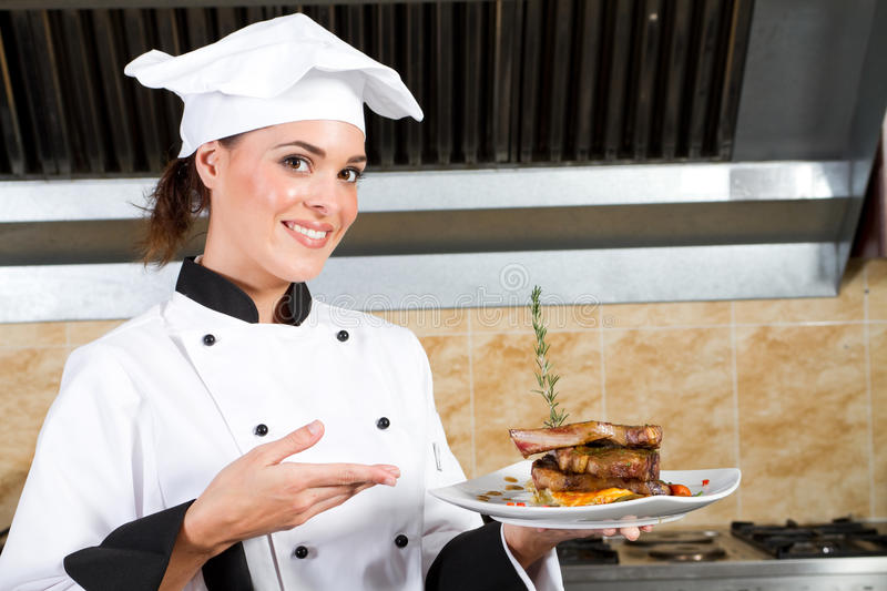 Young chef stock images
