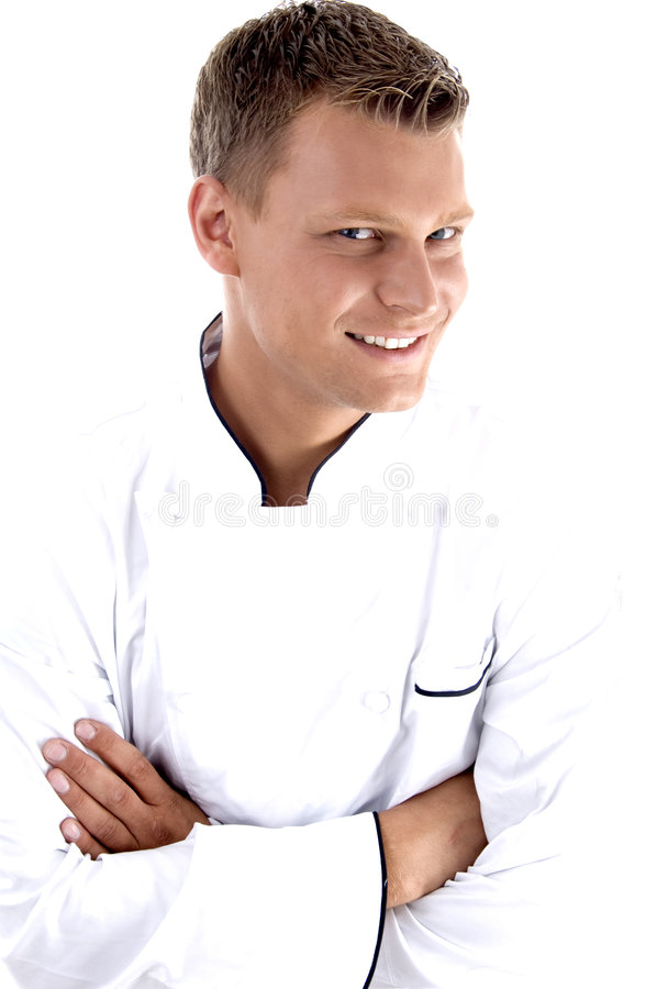 Download Young Chef Posing With His Arms Crossed Stock Image - Image: 6969927