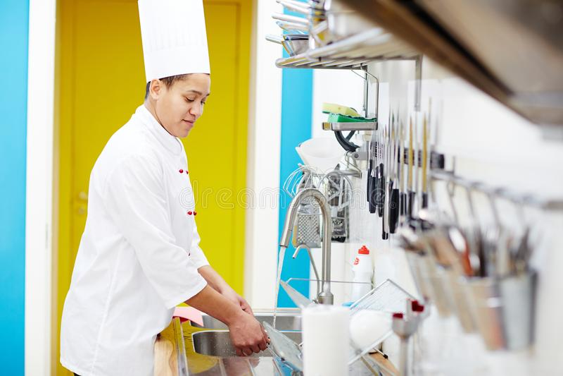 Washing kitchenware stock photography