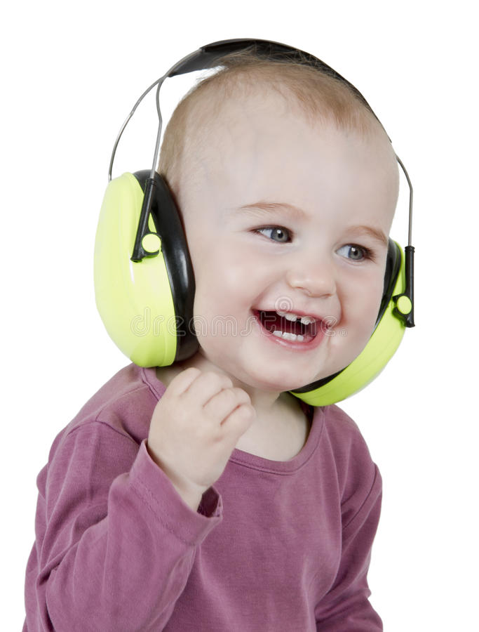 Download Young Child With Ear Protection Stock Photo - Image: 25013616