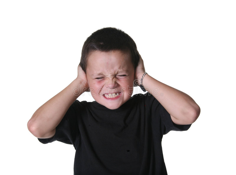 Young Child With Expressive Mannerisms royalty free stock image
