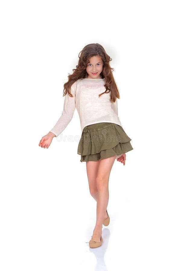 Young child fashion model stock photo