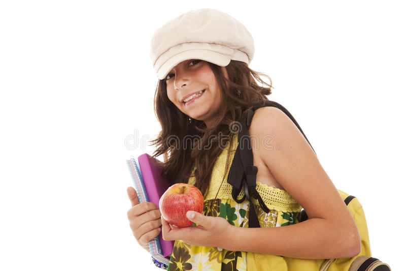 Young child going to school stock image