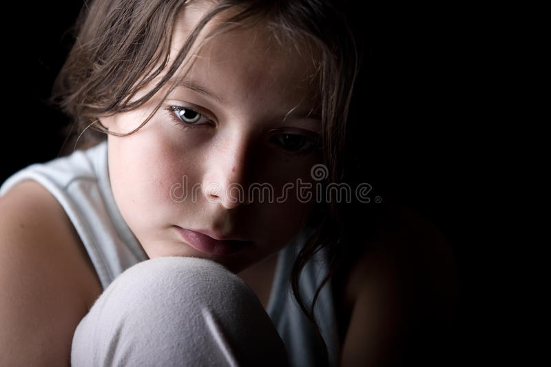 Young Child Looking Sad royalty free stock photo