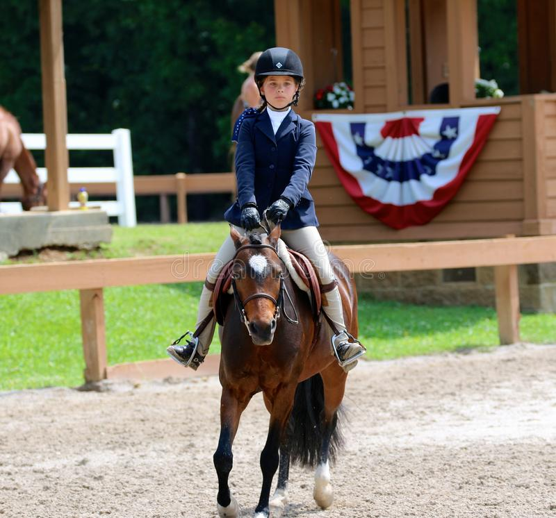 Download A Young Child Rides A Horse In The Germantown Charity Horse Show Editorial Photography - Image: 41366272