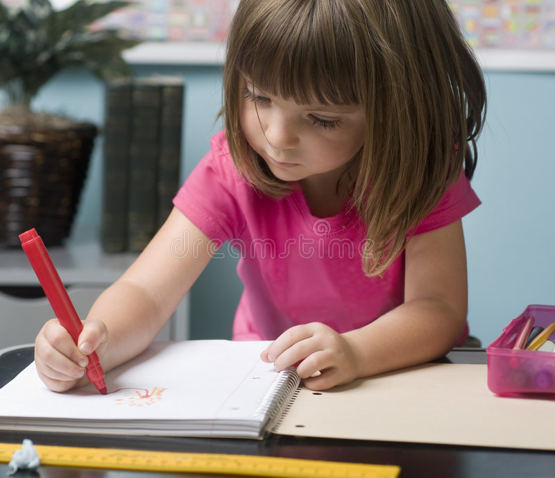 Young child at school royalty free stock photos
