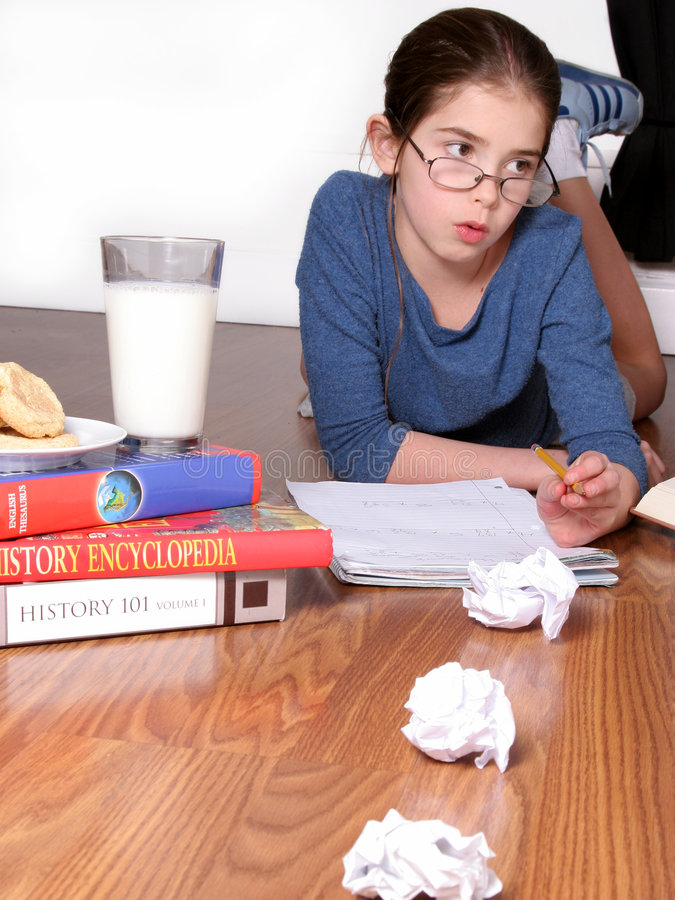 Young Child Studying royalty free stock photography
