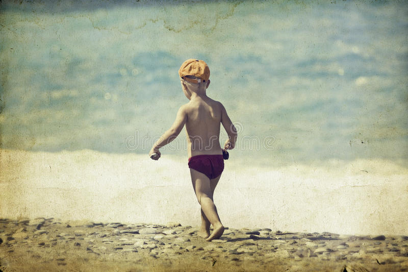 Download Young Child Walking On The Beach Stock Image - Image: 38360667