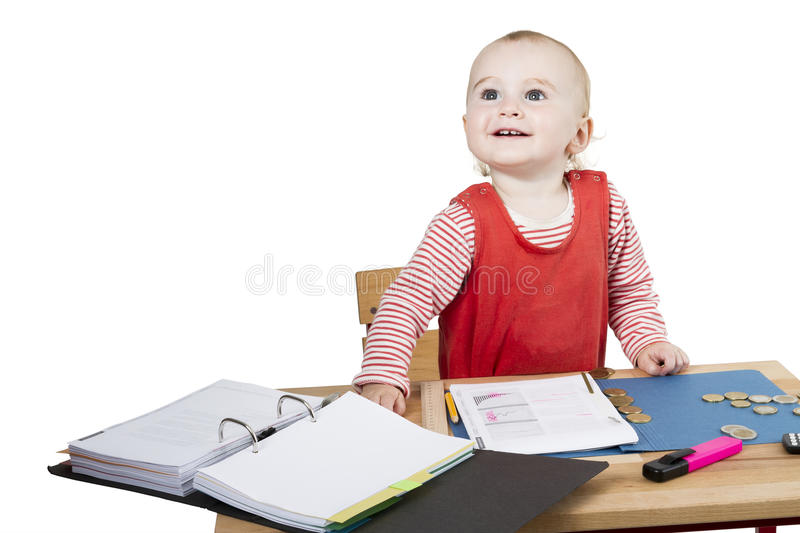 Download Young Child At Writing Desk Stock Image - Image: 25897857