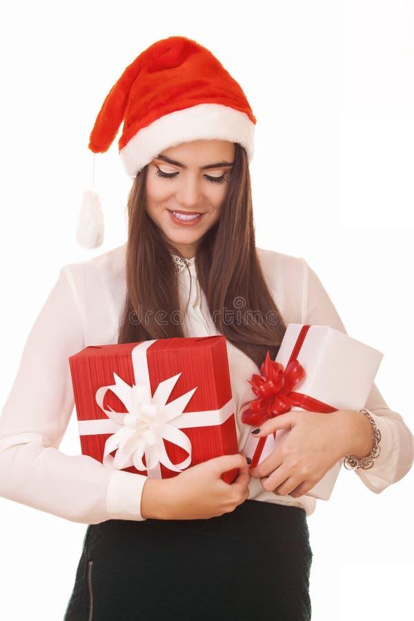 Young christmas girl royalty free stock image