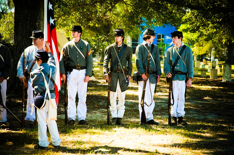 Young Civil War Soldiers royalty free stock photography