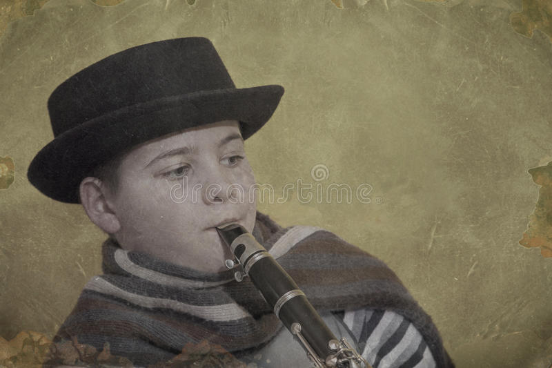 Young clarinet player royalty free stock photos