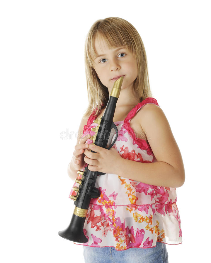 Download Young Clarinetist stock photo. Image of pretty, background - 26615588